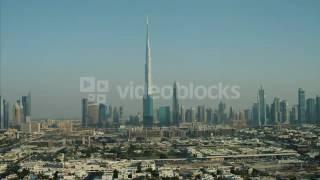 aerial view burj khalifa skyscraper downtown dubai uae 4jyf4es6