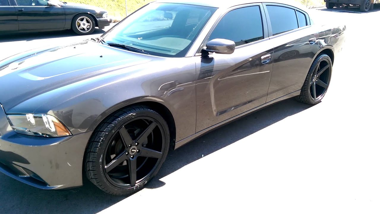877 544 8473 22 inch kmc km685 district black rims 2013 dodge charger wheels we ship worldwide youtube - 2013 Dodge Charger Black Rims
