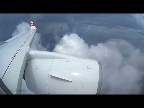 Swiss CS100 - Storms Building over France Landing Paris Charles de Gaulle