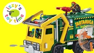 Toys For Kids! Ninja Turtles Unboxing The TMNT Turtle Tactical Truck With Izzy's Toy Time & Family!