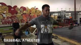 Baseball Strength & Conditioning (upper body workout): Daru Strong Specialized Training Systems