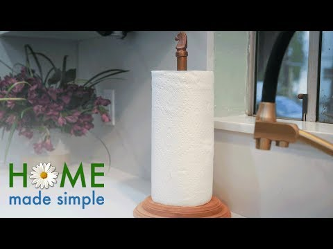 Custom Copper Paper Towel Holder | Home Made Simple | Oprah Winfrey Network