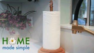 Custom Copper Paper Towel Holder   Home Made Simple   Oprah Winfrey Network