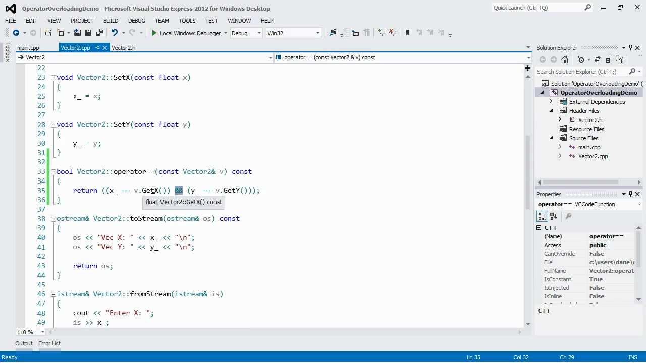 C++ Tutorial: Operator Overloading Part 4 - Equality Operators - YouTube