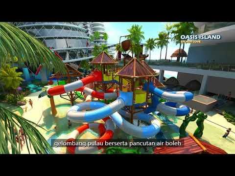 Render Video ''Splash World'', Pulau Melaka, Malaysia