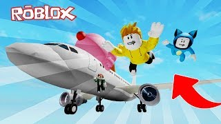 SUPER AVION OF ICE!! ROBLOX ICE SIMULATOR 💙💚💛 BEBE MILO VITA AND ADRI 😍 AMIWITOS