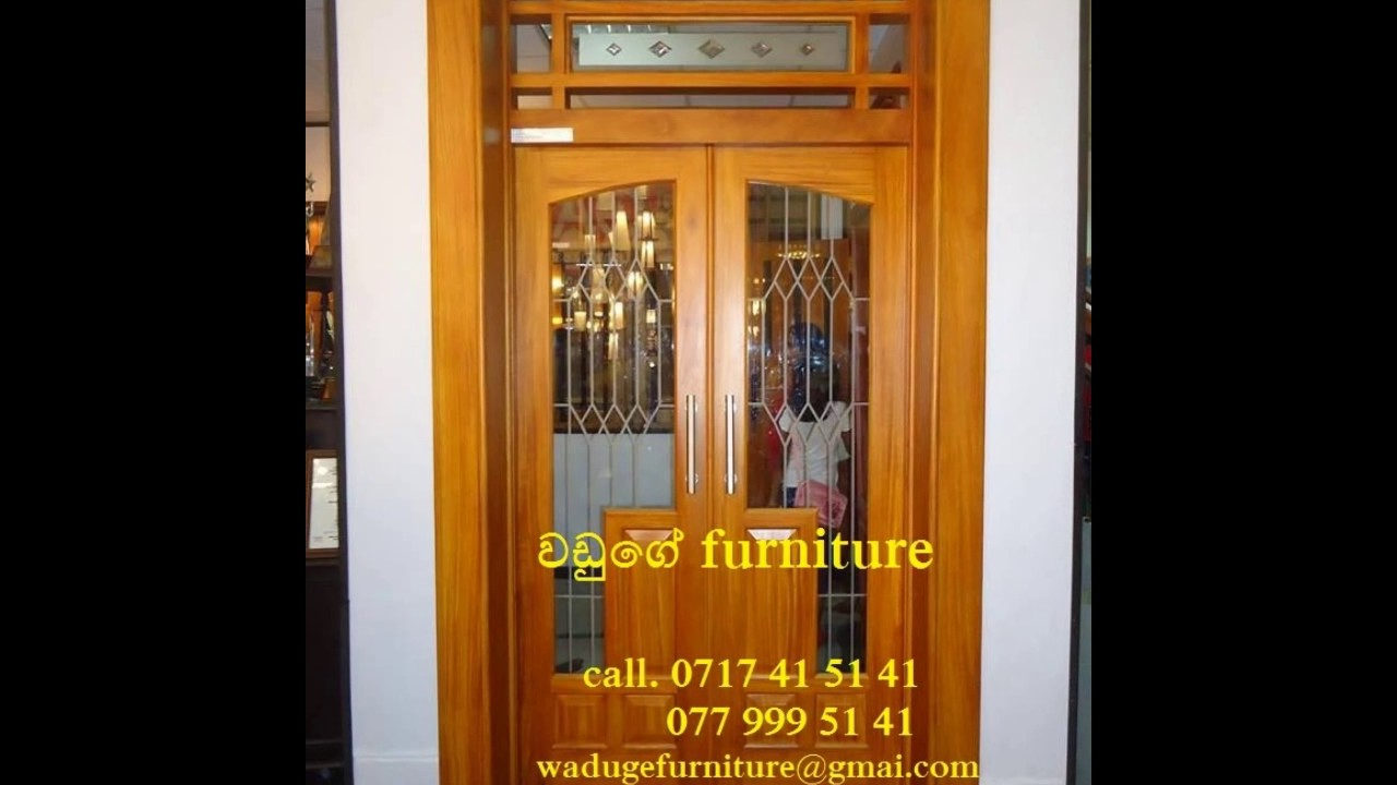 Door Designs Sri Lanka Photo Gallery Waduge Furniture Youtube