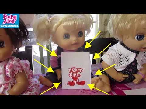 BABY ALIVE Preschool compilation: Maddy+ Elsa + DIY dirt worm cup+Self Portraits+Snack Time+Writing