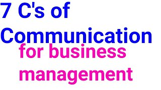 7C,s of communication for management ( in hindi ,english)