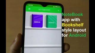 Android के लिए बुकशेल्फ़ शैली लेआउट के साथ नोटबुक ऐप screenshot 1