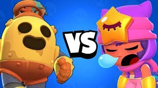 Robo Spike vs 600 IQ Legendary Sandy I Brawl Stars Wins & Fails