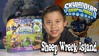 SHEEP WRECK ISLAND Adventure Pack - Skylanders SWAP FORCE Unboxing & Review!