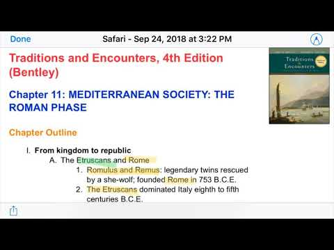 Ch 11 Traditions Encounters Mediterranean Society The