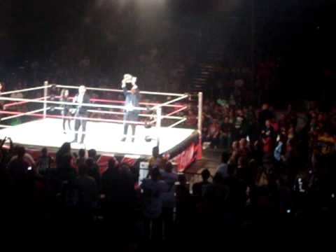 WWE Raw Live Tour - General Manger A.J. Lee + CM Punk In Ring Segment