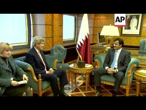 US Secretary of State holds talks with Emir of Qatar