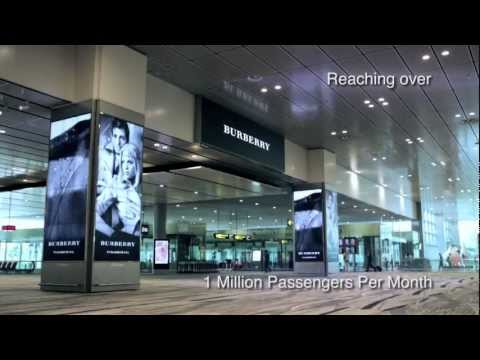 . JCDecaux Airport Singapore : Burberry -  Digital 360o Campaign at Changi Airport - October 2012