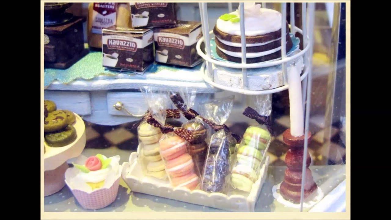 Miniature Diy Dollhouse Coffee Shop Kit Youtube