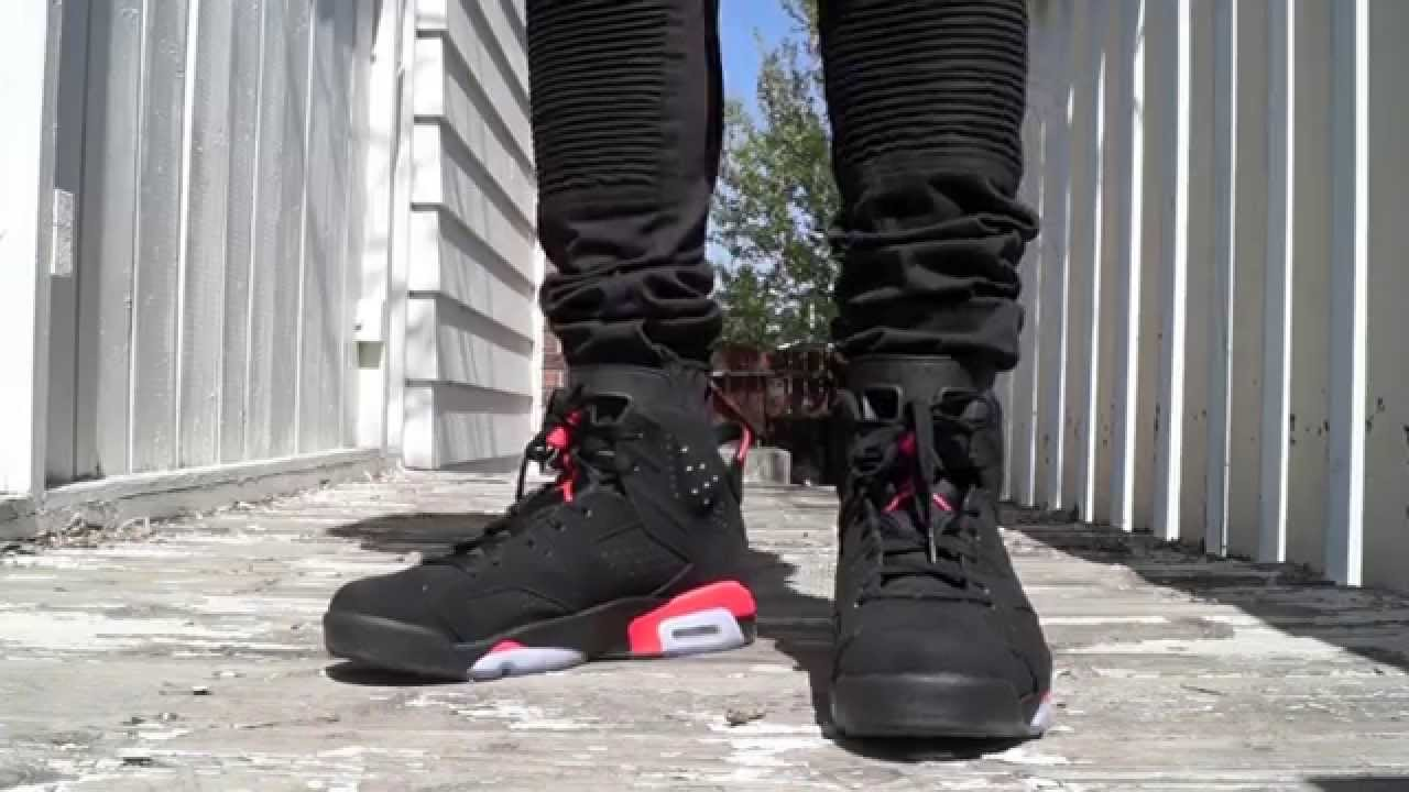 Jordan 6 Black Infrared On Feet