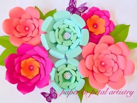 A quick look at all our DIY Paper flowers