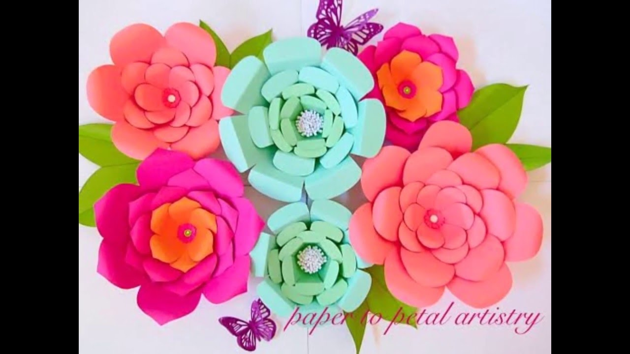 A Quick Look At All Our Diy Paper Flowers Youtube