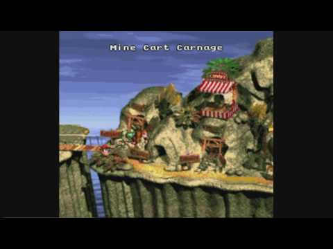 Let's Play Donkey Kong Country 2: Mine Cart Carnage Fail