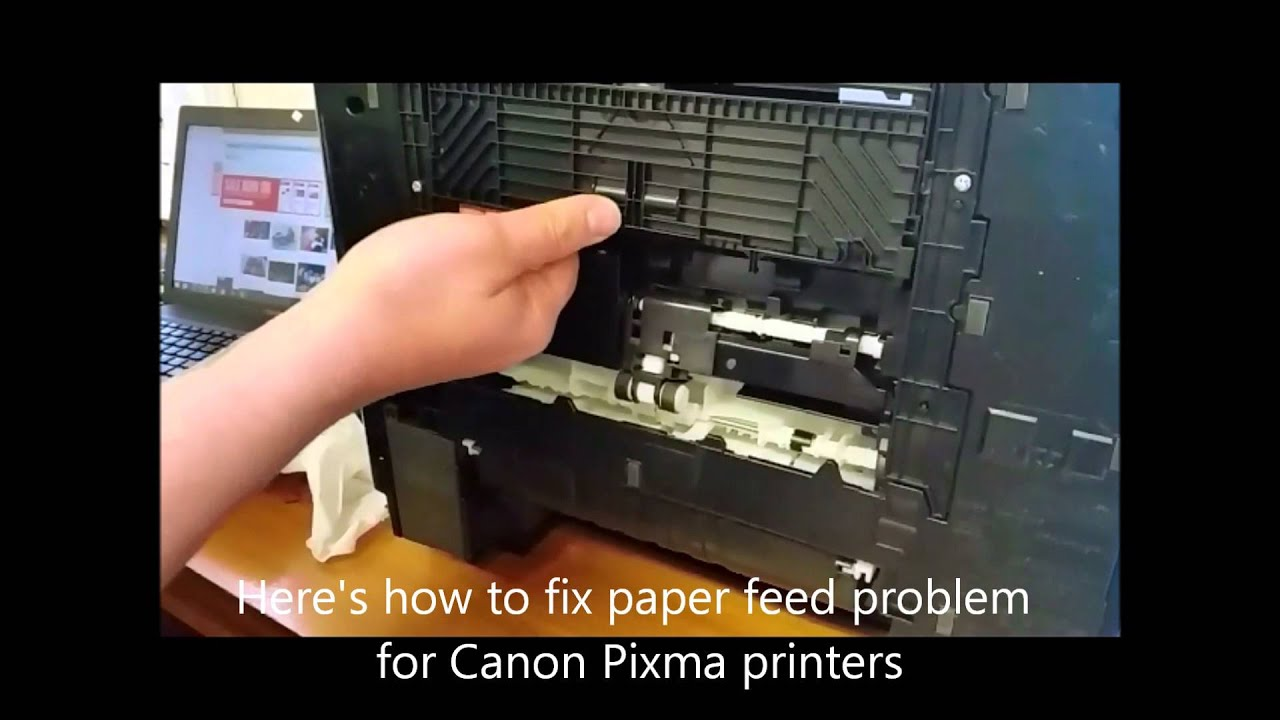 How to fix a Canon paper feed problem - YouTube
