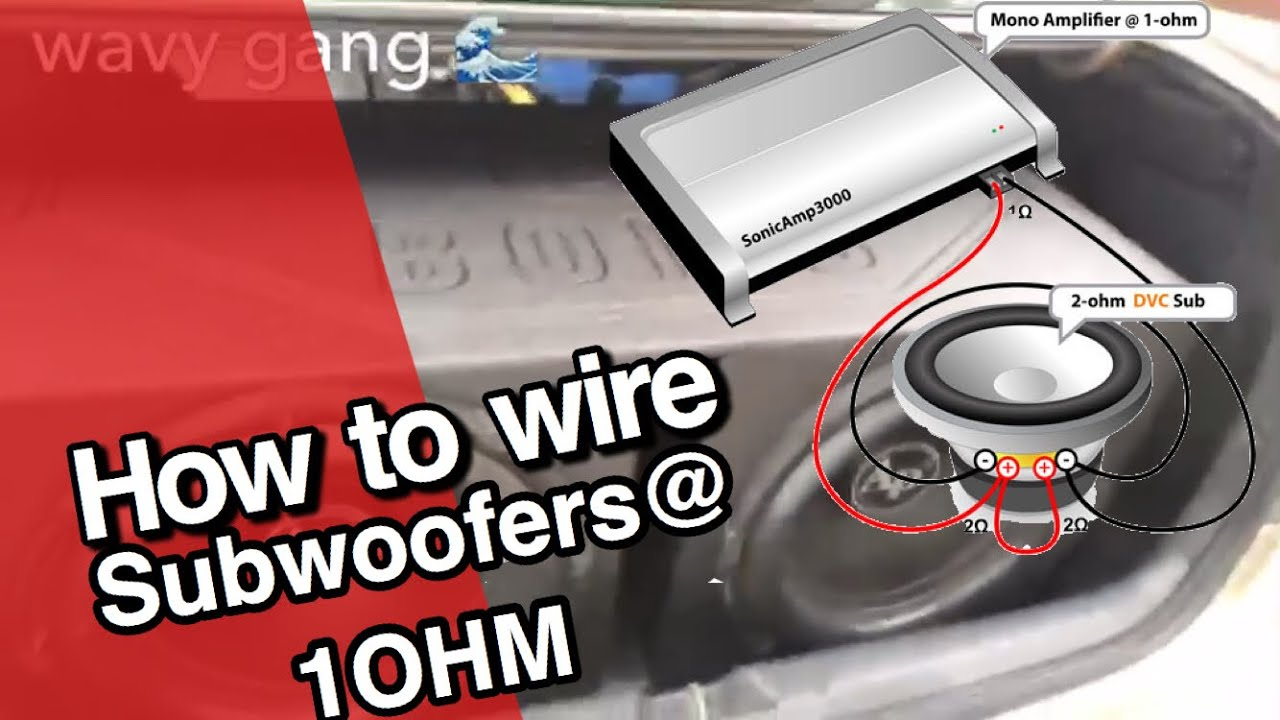 medium resolution of audiopipe 15 wired at 1 ohm tutorial