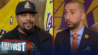 Ice Cube challenges Nick's Kobe vs. Duncan discussion, LeBron in LA | NBA | FIRST THINGS FIRST
