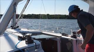 Furling Mainsail While On The Water - Furling Part 4