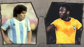Pele VS Maradona-Legendary Tricks and Skills!