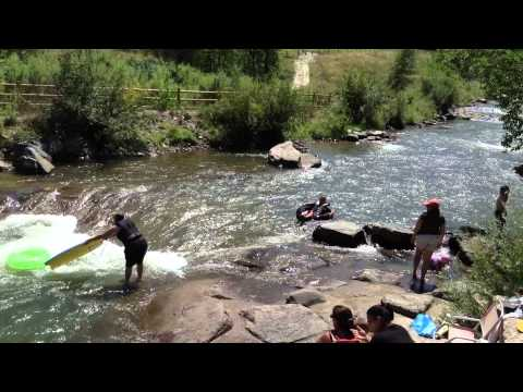 Tubing on Clear Creek, Golden, Colorado