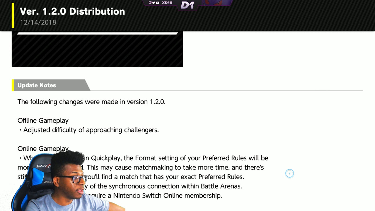 SMASH BROS  ULTIMATE VERSION 1 2 0 PATCH IS OUT!