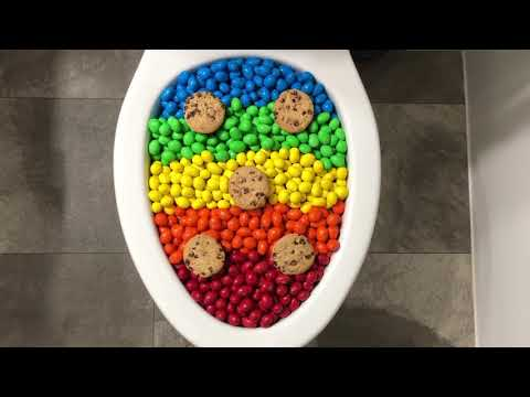 Will it Flush? - Rainbow M&M's and Chips Ahoy Cookies