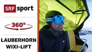 360° Blick vom Sessellift hoch zum Lauberhorn | 360° Ski-Special | Lauberhorn thumbnail