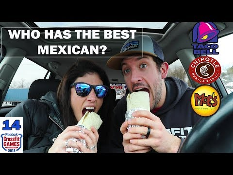 Chipotle VS. Moe's VS. Taco Bell | Mexican food review