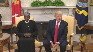 Trump, Nigerian Pres. Buhari discuss countering terrorism in Oval Office meeting