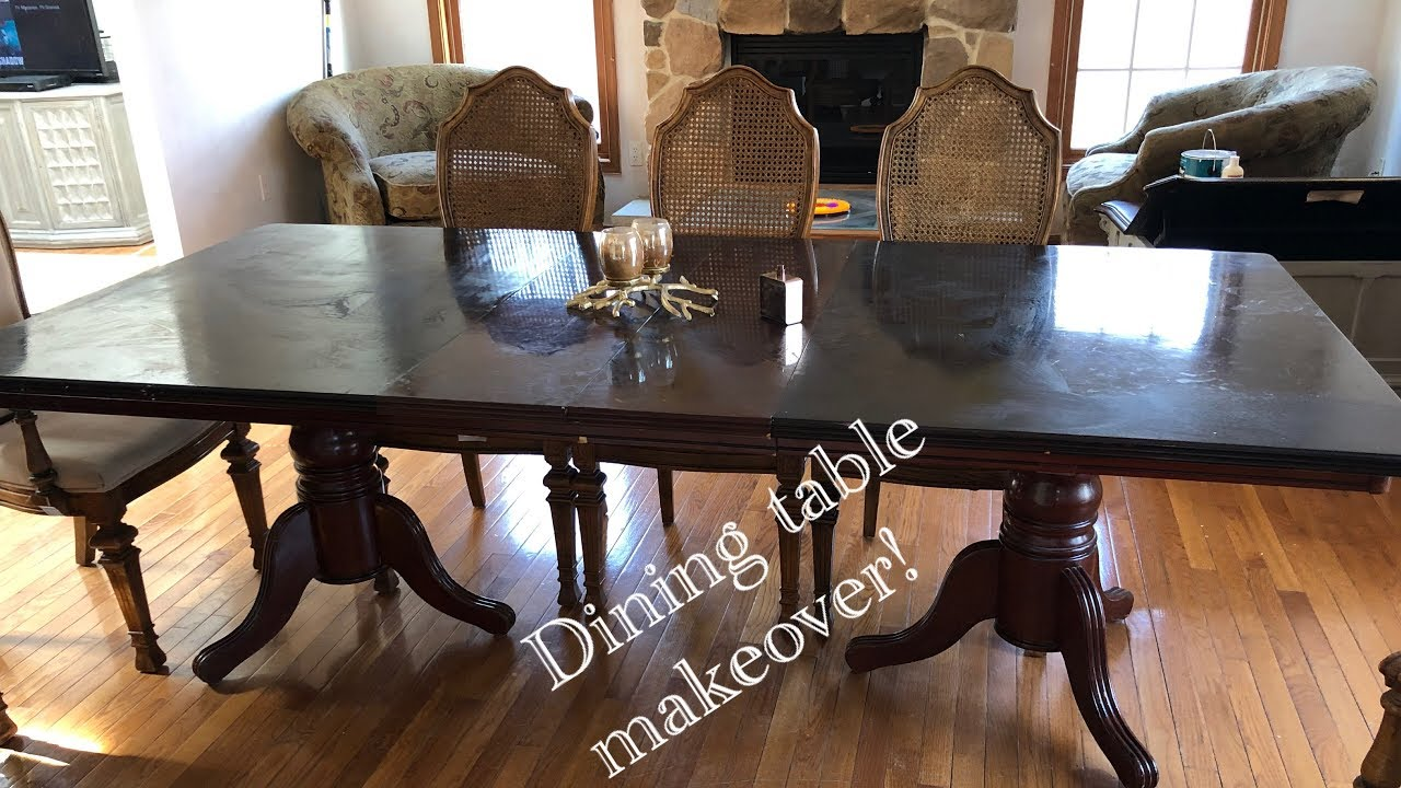 Dining Table Makeover Diy Chalk Paint On Dining Table Life With Queen Youtube