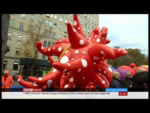 Weather Events 2019 – Storms & Thanksgiving parade (USA) – BBC – 27th November 2019