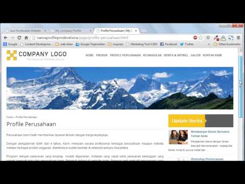 Tutorial Website : Mengelola Halaman Webisite Anda