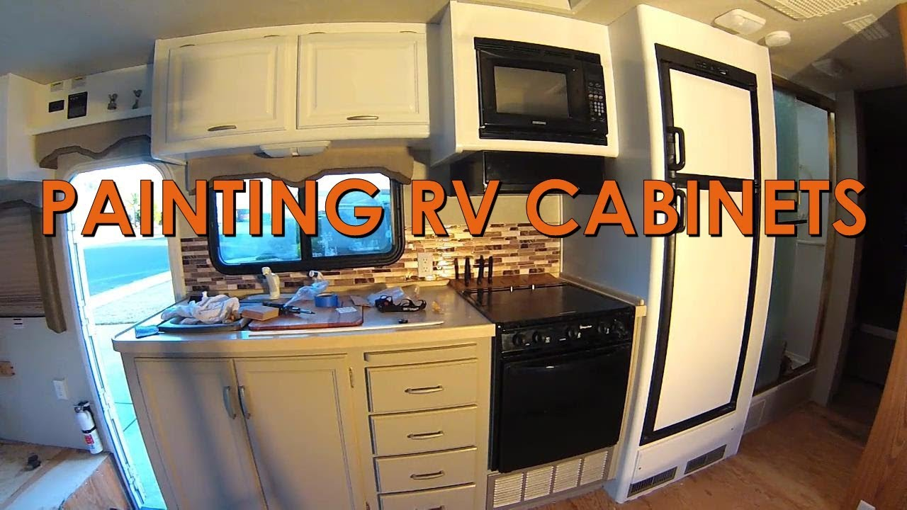 Painting Rv Cabinets Youtube