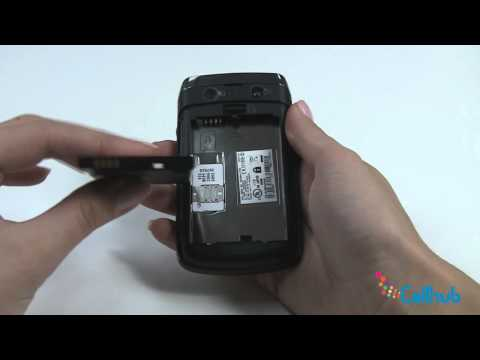 Blackberry Bold 9700 Install Sim Card and Battery