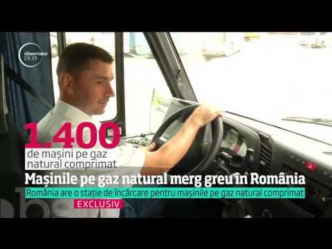 Mașinile pe gaz natural merg greu în România