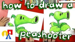 How To Draw A Peashooter (Plants vs Zombies)