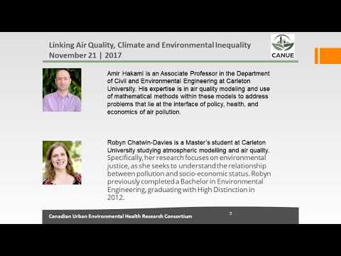 Linking Air Quality Climate and Inequity