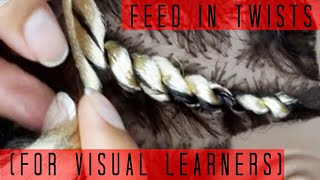How To Do Feed in Twists | For Visual Learners