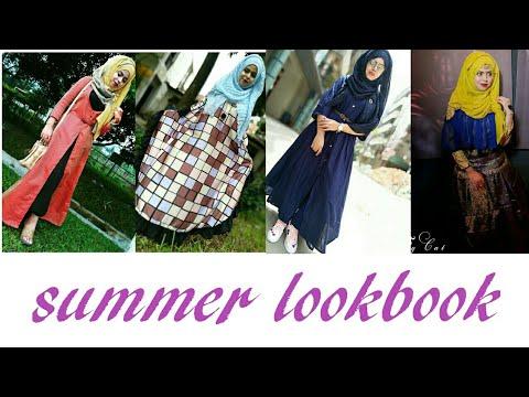 [VIDEO] - Outfit Idea LOOKBOOK|Hijab|shrugs/abeya/kurti/skrat|| Fashion 2018 2