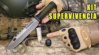 PRUEBO KIT DE SUPERVIVENCIA EN CUCHILLO TÁCTICO K25 THUNDER I