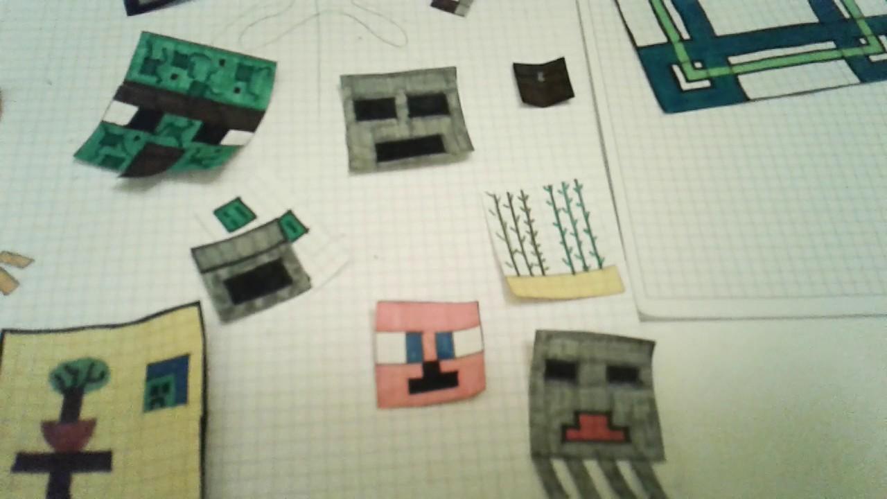 i miei disegni di minecraft youtube