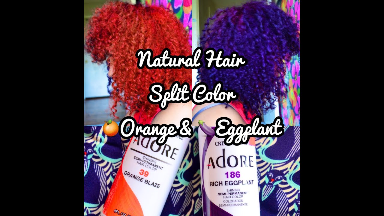 natural hair split color adore