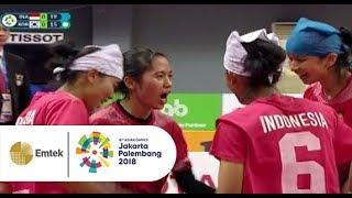 Pertandingan Sengit Sepak Takraw Putri INA vs KOR | Gelora Asian Games